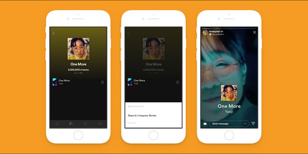 Spotify: Canvases in Instagram Stories